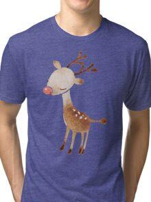 Rudolf the reindeer Tri-blend T-Shirt