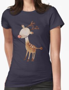 Rudolf the reindeer Womens Fitted T-Shirt
