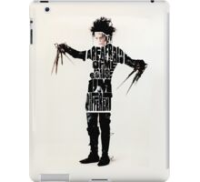 Edward Scissorhands Typography iPad Case/Skin
