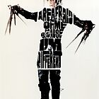 Edward Scissorhands Typography by LeadPoison