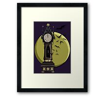 Gothic Clock Framed Print