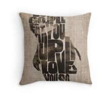 Where The Wild Things Are Typography Throw Pillow