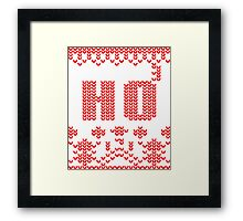 Ugly Christmas Sweater Nordic pattern Ho 3 Framed Print