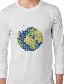 tetris earth  Long Sleeve T-Shirt