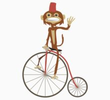 the Monkey and the bicycle  Kids Clothes
