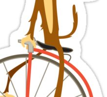 the Monkey and the bicycle  Sticker