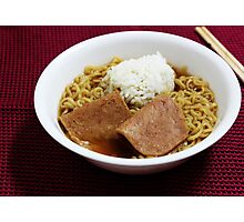 Ramen for dinner Photographic Print
