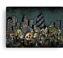 Zombies in London Canvas Print