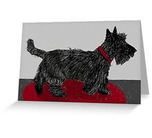 Pudding Scottie dog Greeting Card