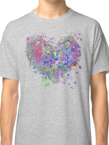 Paint splatter heart Classic T-Shirt