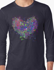 Paint splatter heart Long Sleeve T-Shirt