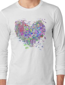 Paint splatter heart Long Sleeve T-Shirt