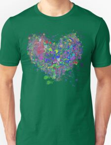 Paint splatter heart Unisex T-Shirt