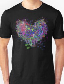 Paint splatter heart T-Shirt