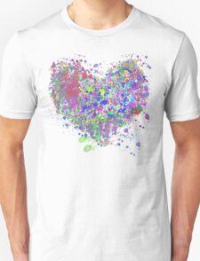 Paint splatter heart Unisex T-Shirt