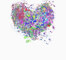 Paint splatter heart Womens T-Shirt