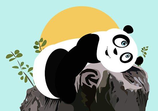 Panda Relaxing by Adamzworld