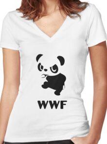 Yancham WWF Tee Women's Fitted V-Neck T-Shirt