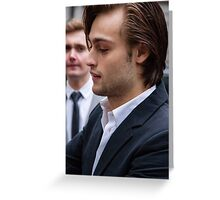 Douglas Booth Greeting Card