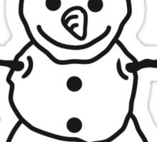 Snowman With Big Snowballs Sticker