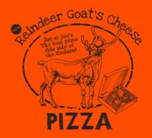 Reindeer Goat's Cheese Pizza - Bruce Willis by [g-ee-k] .com