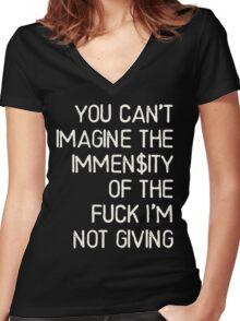 No immense fuck was given - Kesha Rose Sebert Women's Fitted V-Neck T-Shirt