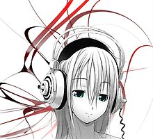 Anime Girl Headphones 1 by tmwilson
