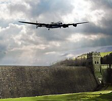 The Dam Busters over The Derwent by J Biggadike