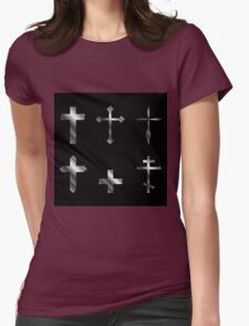 Silver christian crosses in different designs  T-Shirt