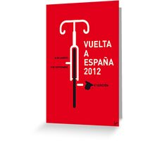 MY VUELTA A ESPANA 2012 MINIMAL POSTER Greeting Card
