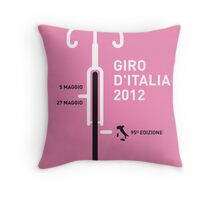 MY GIRO D'ITALIA 2012 MINIMAL POSTER Throw Pillow