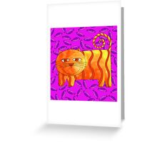 Cat and Fish Greeting Card