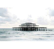 West Pier Silhoutte Photographic Print
