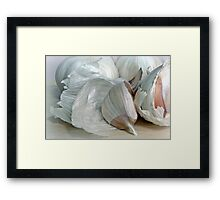Peeling The Papers Framed Print