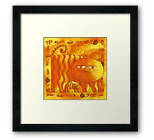 Cat and Kitten Purr Framed Print