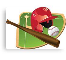 Red Baseball Canvas Print