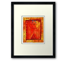 Sunbathing Cat Framed Print