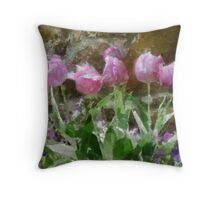 Open Wide in Tempera Throw Pillow
