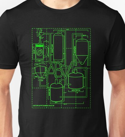 Alcohol By Volume Design (Green) Unisex T-Shirt
