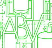 Alcohol By Volume Design (Green) Sticker