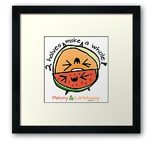 "Melony & Cantaloopy, ""Two Halves Make a Whole"" Framed Print"