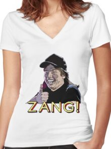 Waynes World Zang! Women's Fitted V-Neck T-Shirt