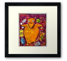 Fat Dog Framed Print