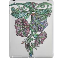 Vintage Style Stained Glass Morning Glory iPad Case/Skin