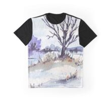 Winter at the pond Graphic T-Shirt