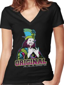 Original Gangster Women's Fitted V-Neck T-Shirt