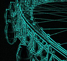 London eye abstract Ipad case/cover by Nimi