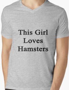 This Girl Loves Hamsters  Mens V-Neck T-Shirt