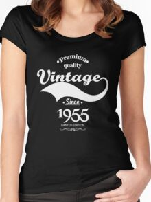 Premium Quality Vintage Since 1955 Limited Edition Women's Fitted Scoop T-Shirt