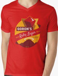 Ruby Lager Mens V-Neck T-Shirt